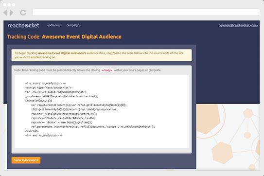 Create an audience segment.